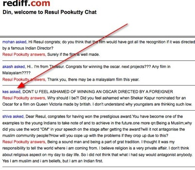 Chat with Resul Pookutty