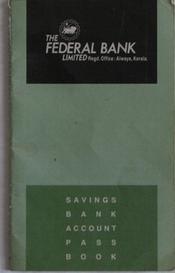 Federal Bank Passbook