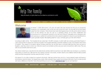 Help the family of ajith